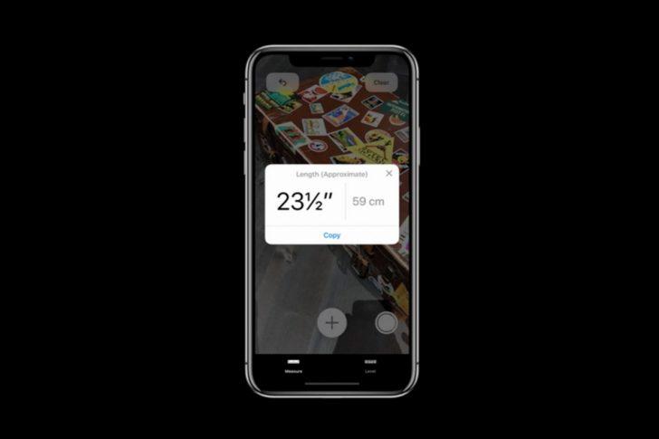 iOS 12 Apple Measure