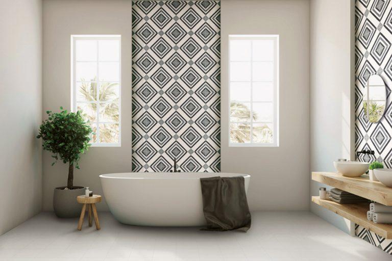 Cementine il rivestimento perfetto per il bagno
